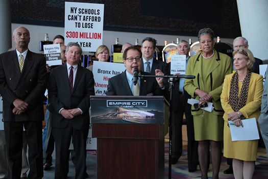 Empire Casino: Assemblyman Abinanti joined his colleagues at a press conference at the Empire City Casino in Yonkers where he urged the rejection of any license for a casino in Orange County.