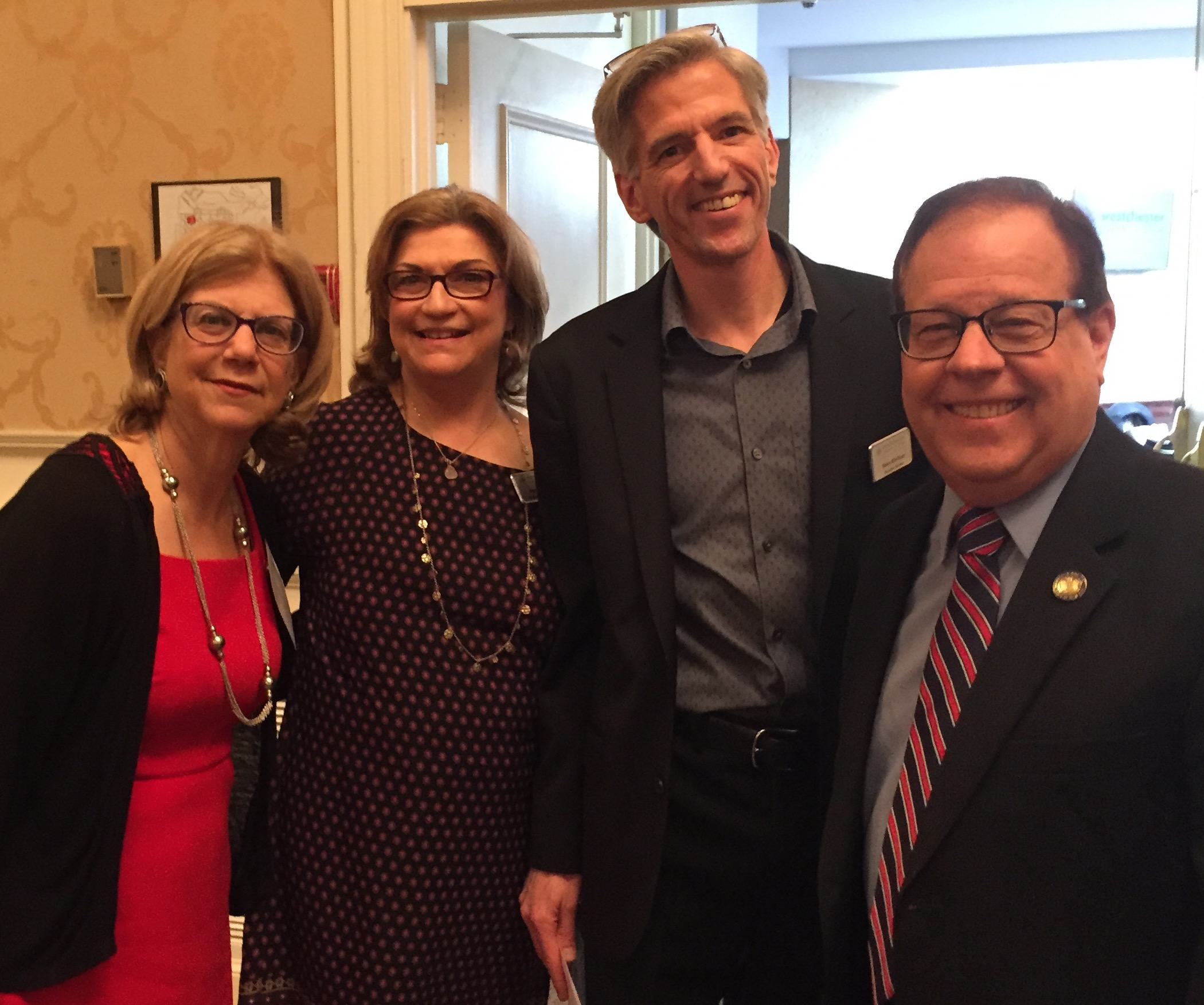 Assemblyman Abinanti with Senator Shelley Mayer and Westchester Library Association leadership.