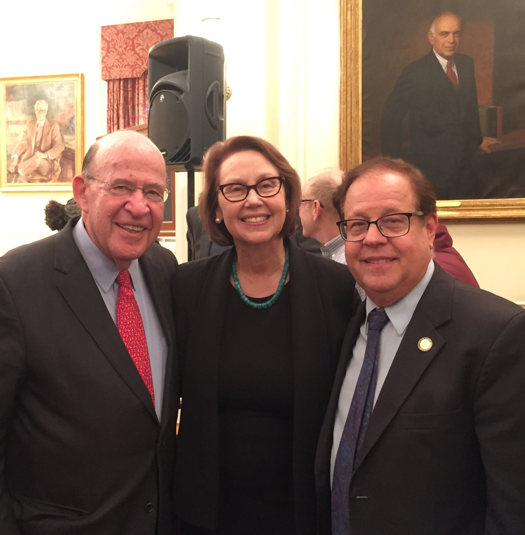 Assemblyman Abinanti attended the NYU Abram's lecture with former NYS Attorney General Robert Abrams.