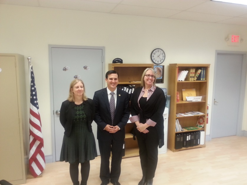 Assemblyman Kevin Byrne (R, C, I, Ref-Mahopac) meets with representatives of the Hudson Highlands Land Trust. (From left to right) Executive Director Michelle Smith, Assemblyman Kevin Byrne, and Director of Development and Outreach MJ Martin<br />