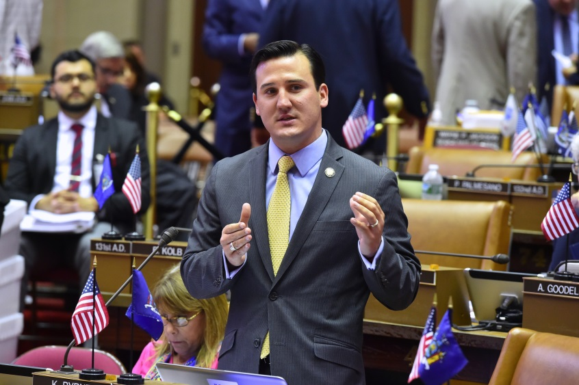 Assemblyman Kevin Byrne, a freshman legislator and volunteer firefighter, played an important role in the introduction and Assembly passage of the New York State Volunteer Firefighter Gap Coverage Cancer Disability Benefits Act.<br />