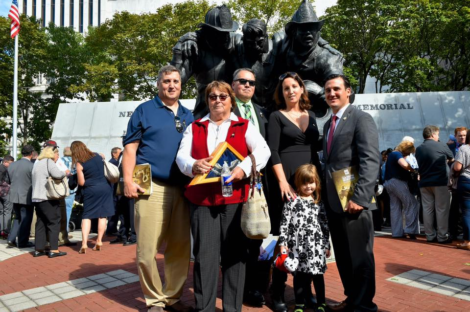 Assemblyman Kevin Byrne (R,C,I,Ref-Mahopac) and the family of late FDNY Fire Chief Kevin Byrnes were among the attendees paying tribute to our state's fallen heroes at this year's NYS Fallen Firefighters Memorial event at the Empire State Plaza on Monday, October 10.<br />