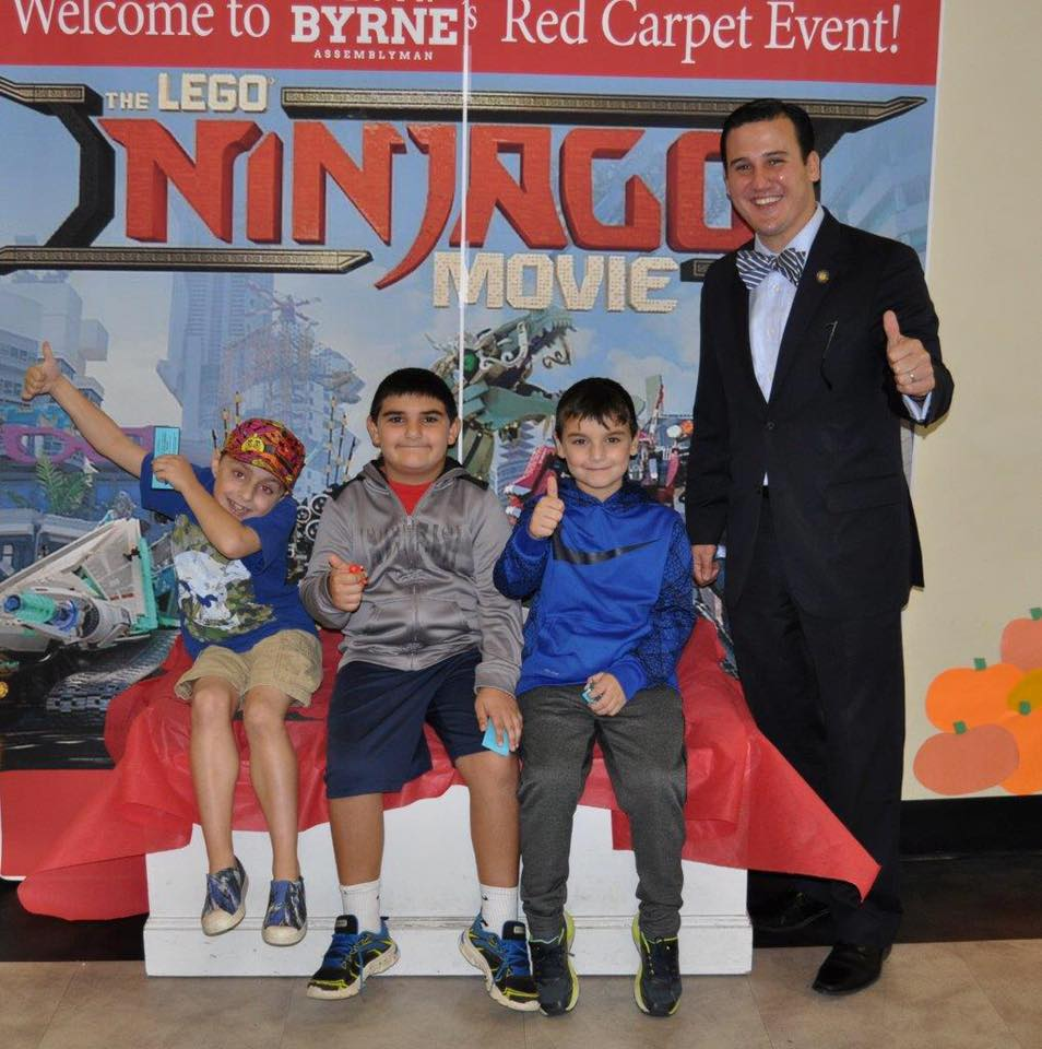Assemblyman Kevin Byrne (R, C, I, Ref-Mahopac) hosted a free red carpet screening of 'The Lego Ninjago Movie' for children with autism spectrum disorders on Saturday, October 14, at Carmel Cinema 8.<br />