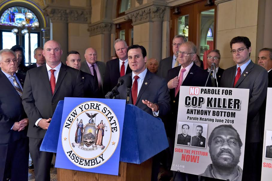Assemblyman Kevin Byrne joins lawmakers from across the state in calling for convicted cop- killer Anthony Bottom to remain behind bars.