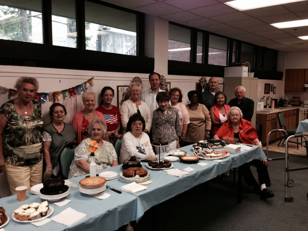 In August 2014, Sandy attended a bake sale run by the Peekskill Senior Citizen Club to raise money for Hudson Valley Hospital Center.