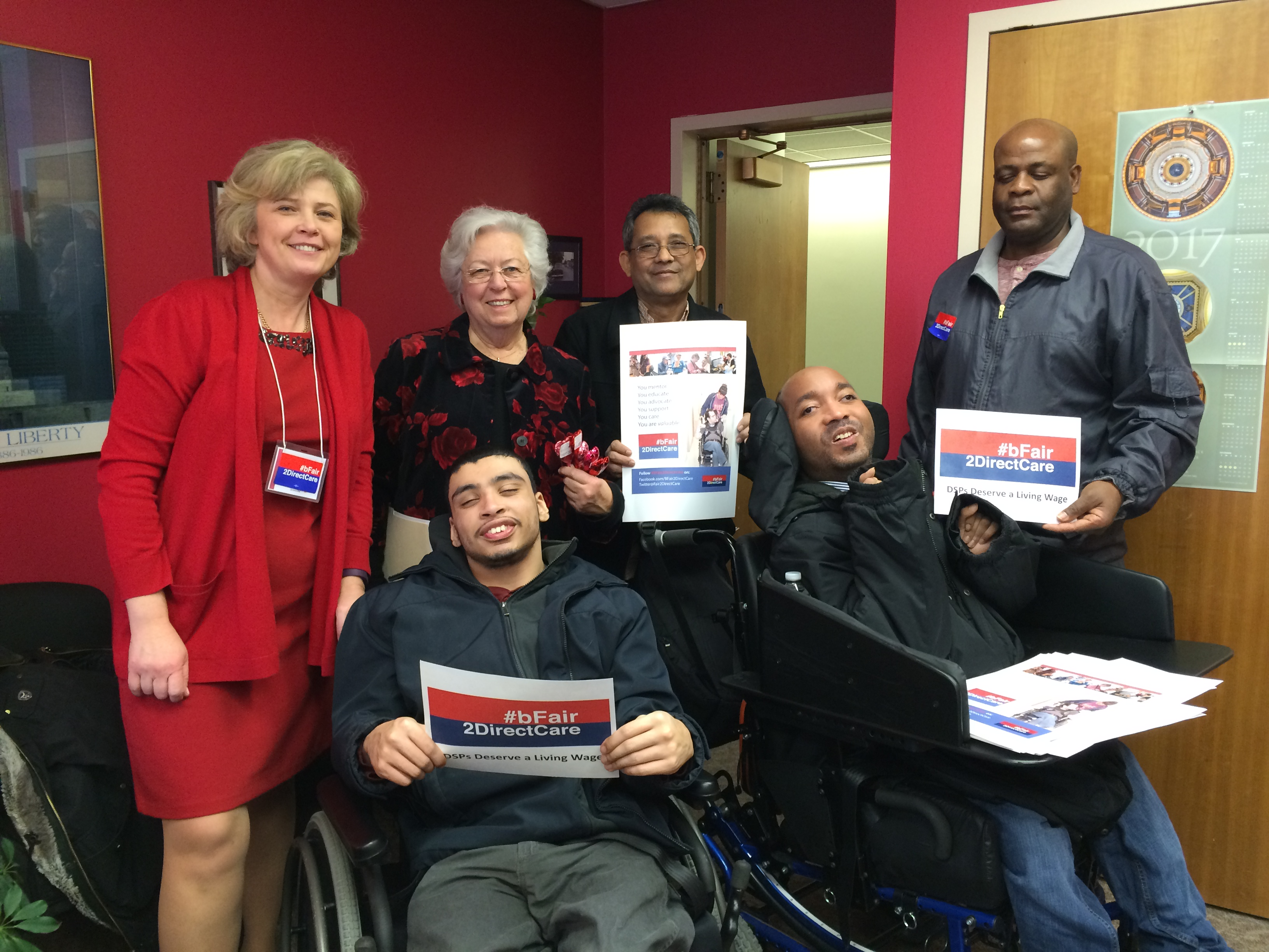 Sandy meeting with #bfair2DirectCare about their initiatives in Albany to increase budget funding for direct care workers.<br />&nbsp;