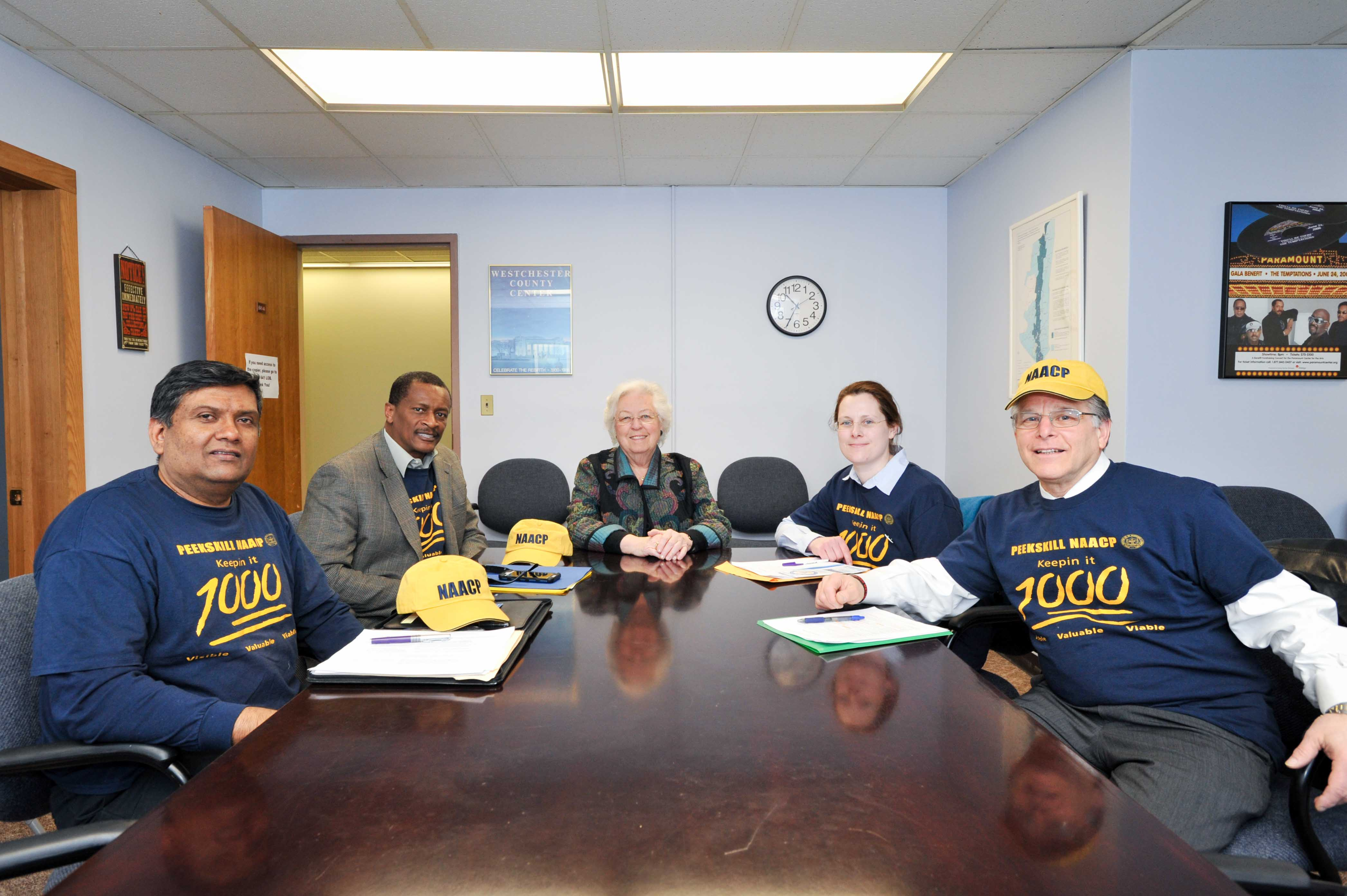 Sandy met with members of the Peekskill NAACP during the session