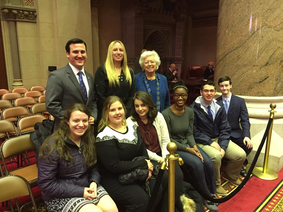 The Putnam County Youth Bureau came to Albany to visit and see the Legislature in action. They took a moment to take a picture.