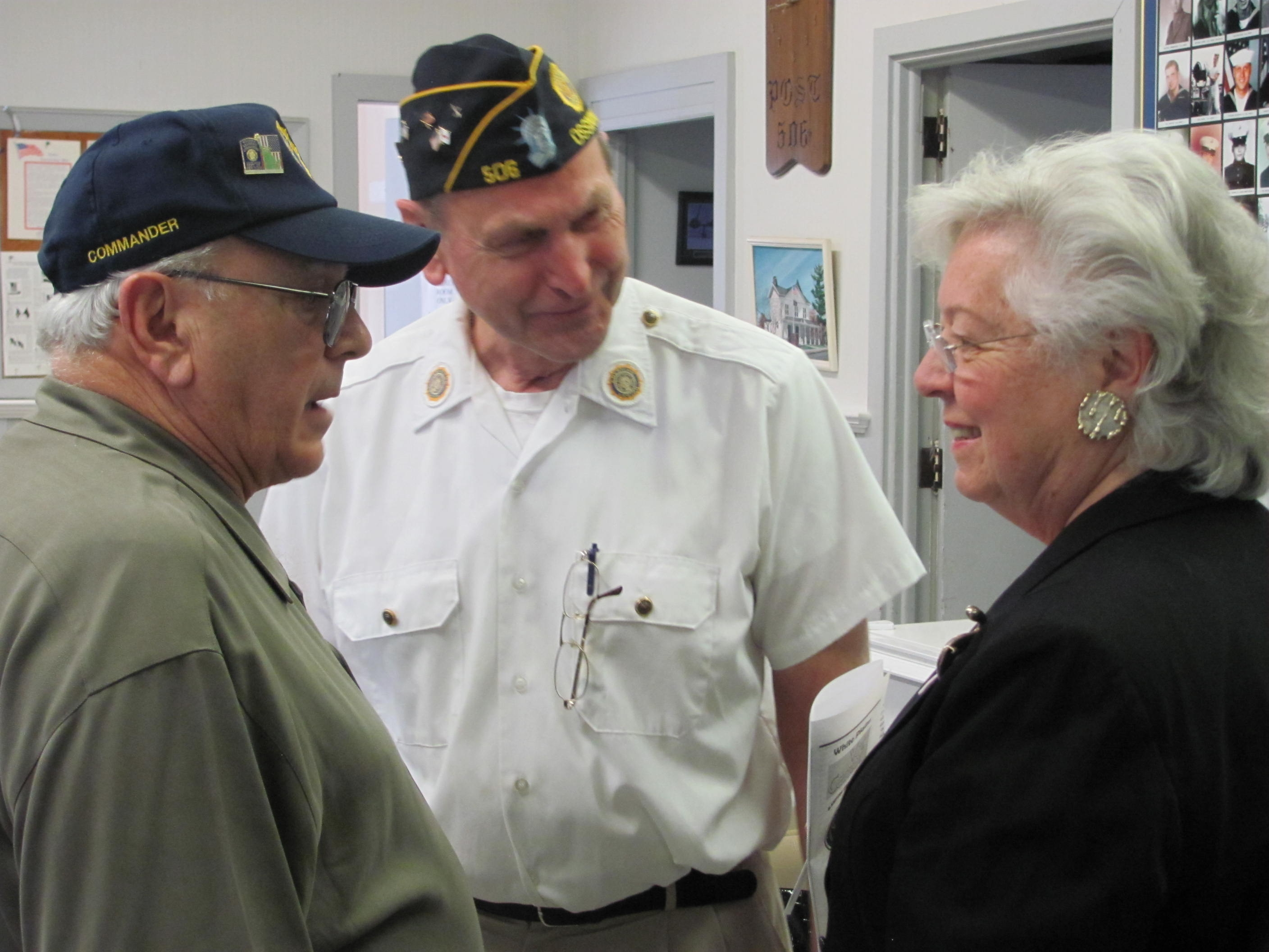 Sandy attended a press conference at the American Legion Post 506 announcing a new state program starting in late 2013 in Westchester and Putnam to provide peer-to-peer services for returning military veterans.