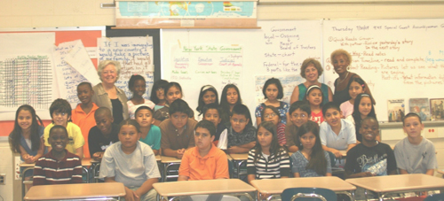 Sandy spoke to the fifth graders in the Ossining Summer ELA Academy when the students were learning about their local and state governments.