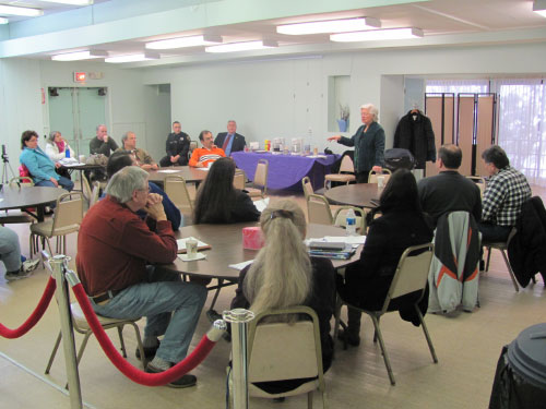 Local residents met with Sandy in Putnam Valley on a variety of topics.