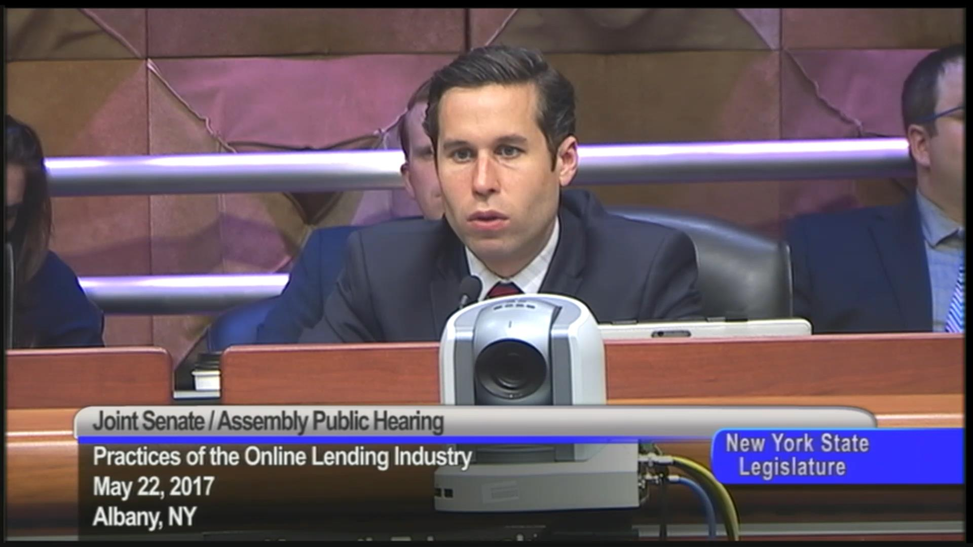 Questions at Online Lending Industry Hearing