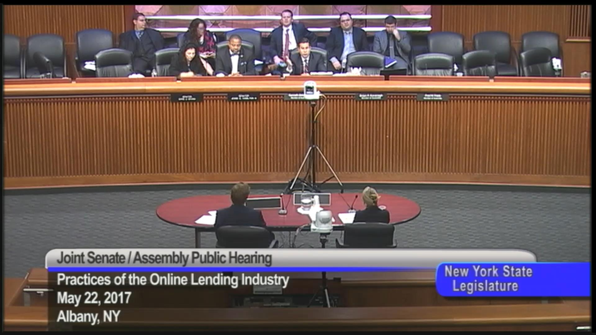 Assembly-Senate Public Hearing Concerning Online Lending