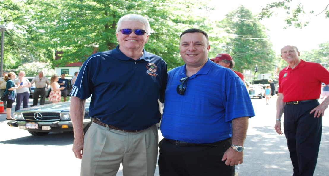 Orange County Legislator Barry Cheney and Assemblyman Karl Brabenec (R, TCN-Deerpark) at Greenwood Lake's Celebrate America Parade.