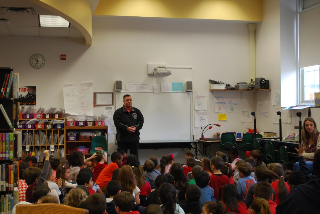 Assemblyman Karl Brabenec (R,TCN-Deerpark) speaks to students at Sloatsburg Elementary on Valentine's Day