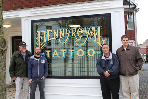Brabenec visits Pennyroyal Tattoo on Main Street in the Village of Florida.