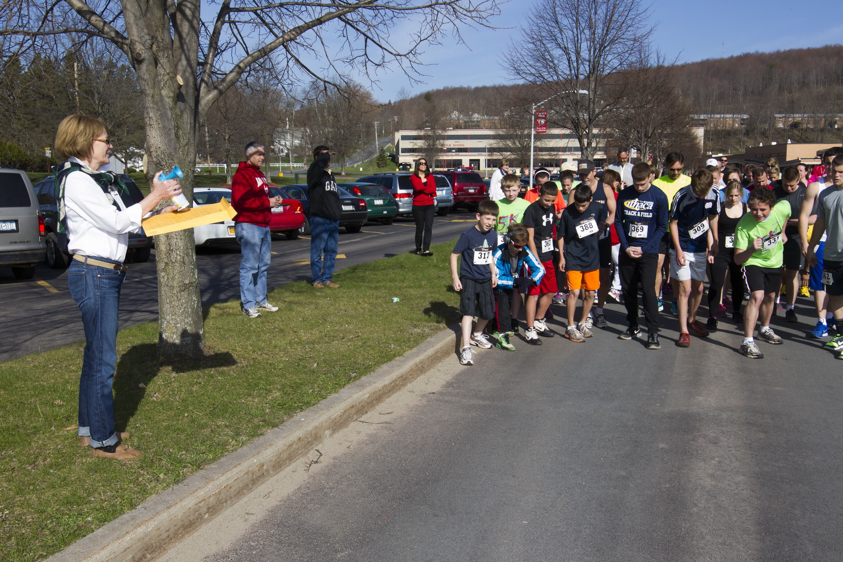 For the second year in a row, Aileen sounded the start of the Liberty High School Annual Spring Fling 5K.