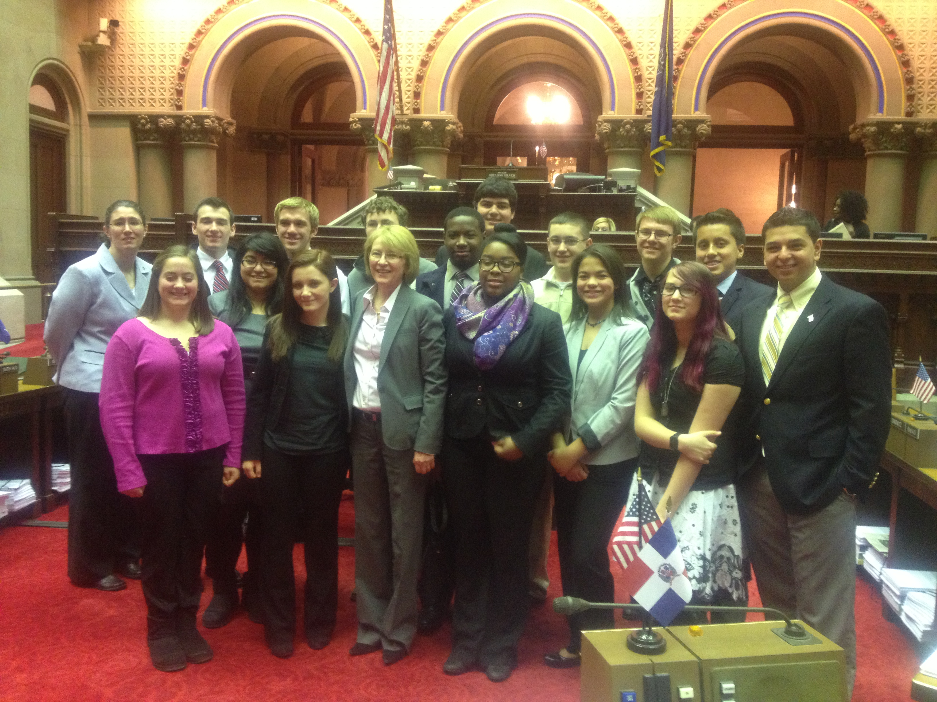 Aileen was visited by members of the Orange County Youth Bureau in Albany.