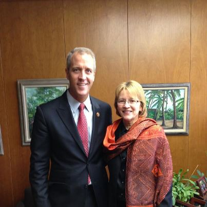 Assemblywoman Gunther welcomed Congressman Sean Maloney to Albany.