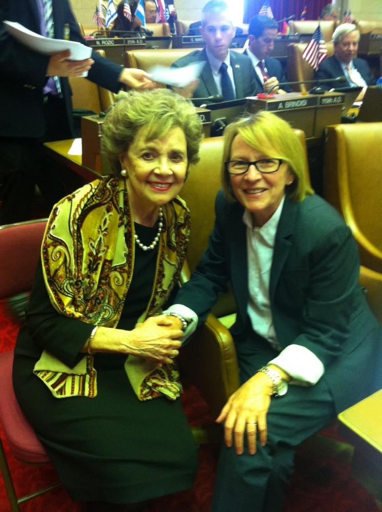 Aileen with Matilda Cuomo, wife of former Governor Mario Cuomo.