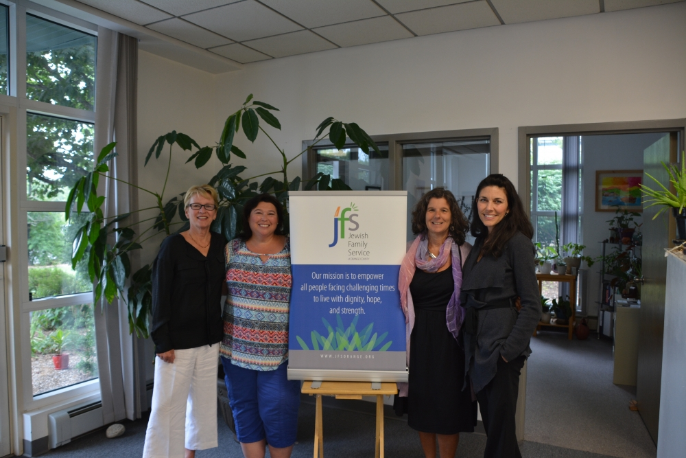 Thanks to Elise Gold, Paula Blumenau, and all the great people at JFS Orange for their hard work and dedication to making our community strong and healthy.