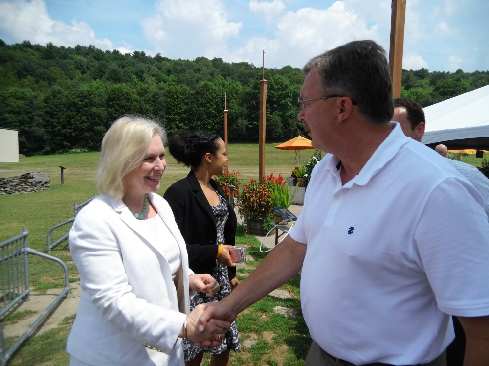 Assemblyman Miller and U.S. Sen. Kirsten Gillibrand recently toured Brewery Ommegang and discussed legislation that will help New York State breweries.