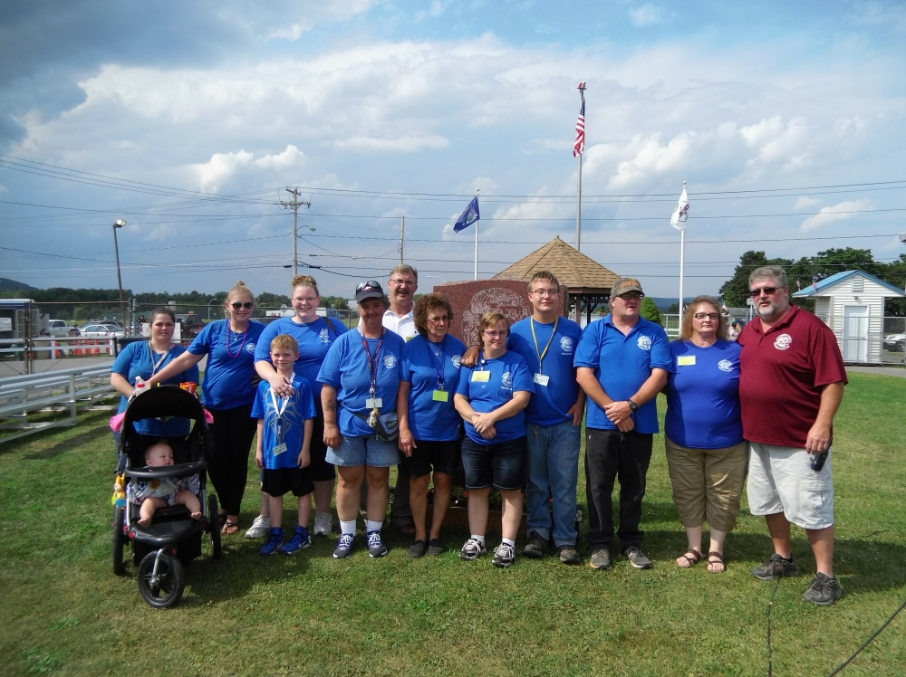 Assemblyman Miller with several county fair volunteers.<br />