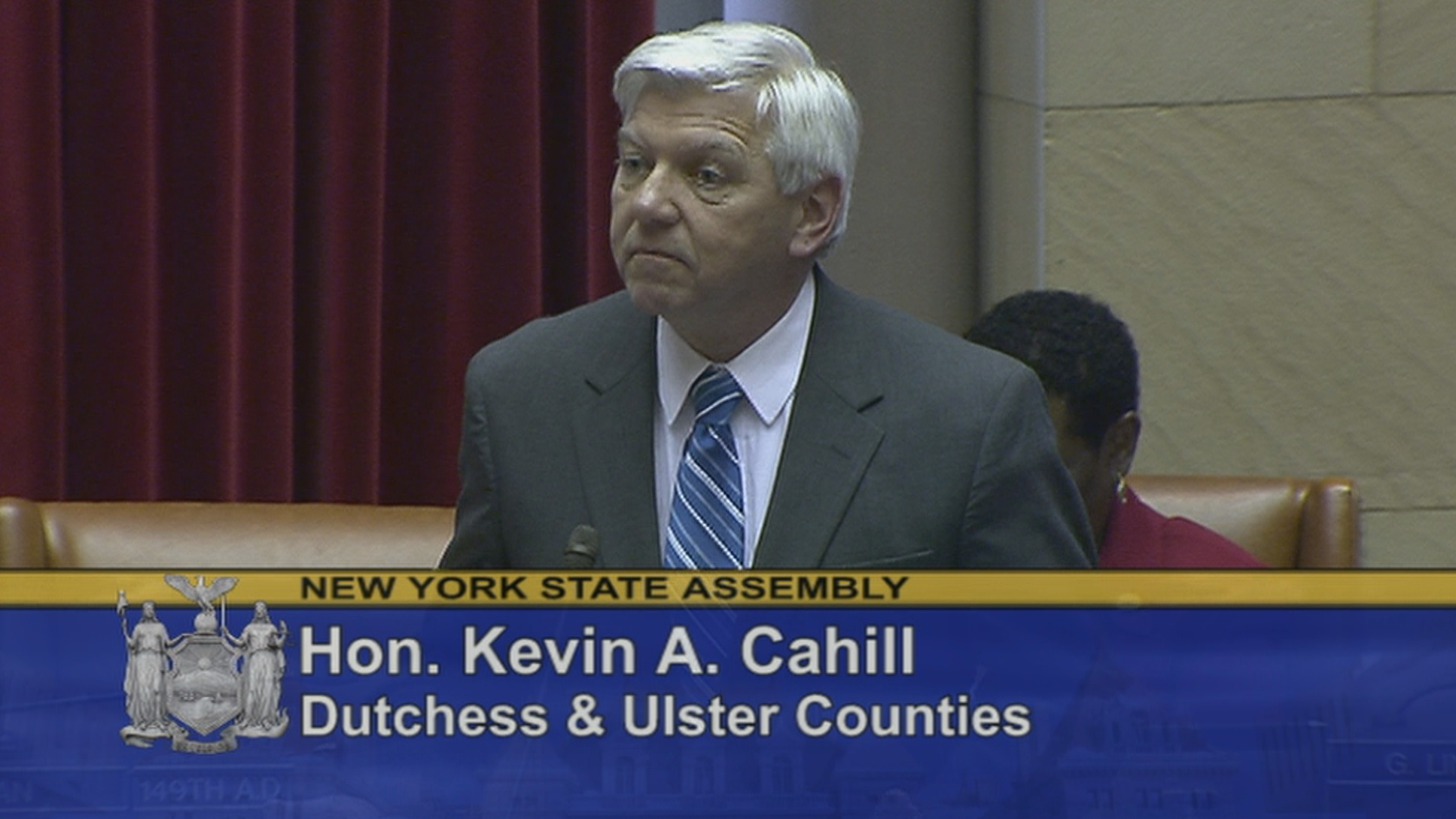 Assemblyman Cahill Standing for Paid Family Leave