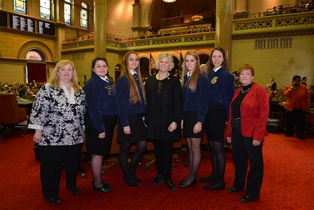 Assemblymember Barrett welcomes Future Farmers of America (FFA) to the Assembly chamber floor.