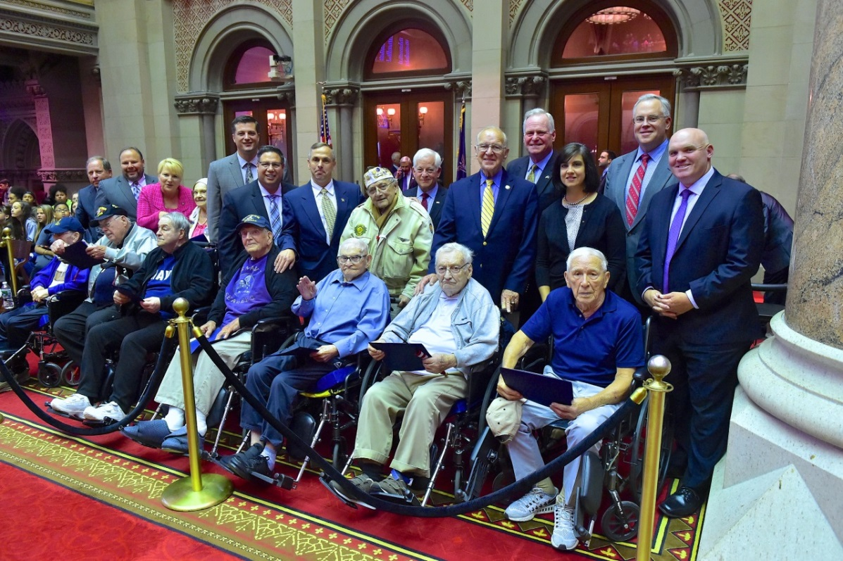 Ashby and his Assembly Minority colleagues honored the veterans, who were introduced during legislative session on Flag Day.