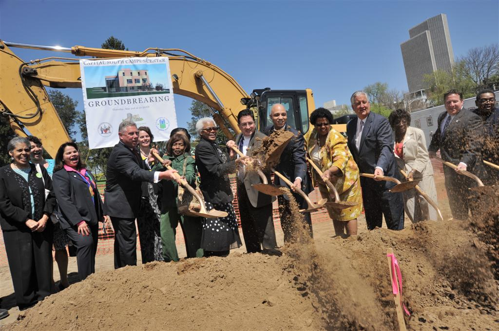 Assemblymember McDonald joins other state, county and local elected officials at the Capital South Campus Center Ground Breaking ceremony.