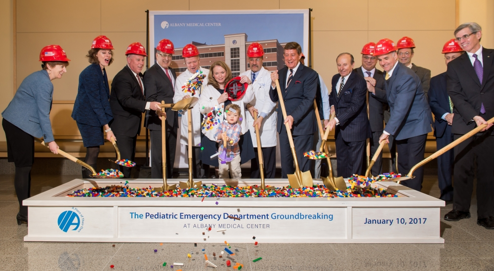Assemblymember McDonald at the ground breaking for Albany Medical Center's Pediatric Emergency Department. Assemblymember McDonald assisted in directing funding to support this initiative along w