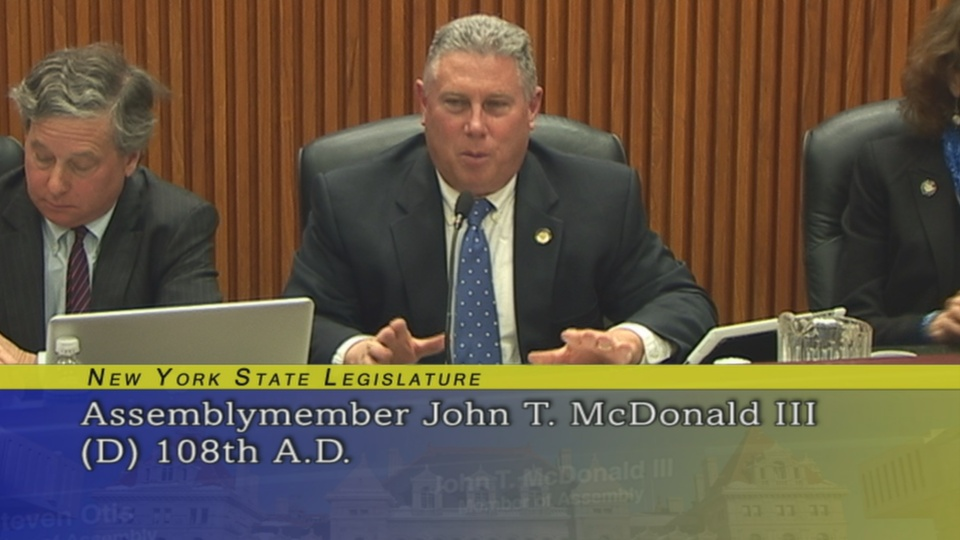 Assemblymember McDonald Questions Mayor Patrick Madden of the City of Troy