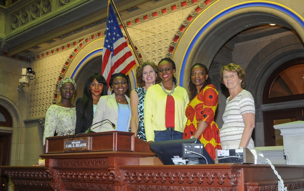 Assemblymember Fahy met in August 2016 with members of the a Nigerian delegation hosted by the International Center of the Capital Region and shared her experience with the NYS Legislative Women'