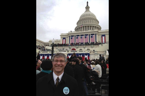 Assemblyman Phil Steck attends the re-inauguration of President Barack Obama in Washington D.C. on January 21, 2013.