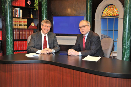 Assemblymember Phil Steck interviews Gary Striar, the Chief Executive Officer of the American Red Cross Northeastern New York Chapter on his TV Show, Assembly Update.