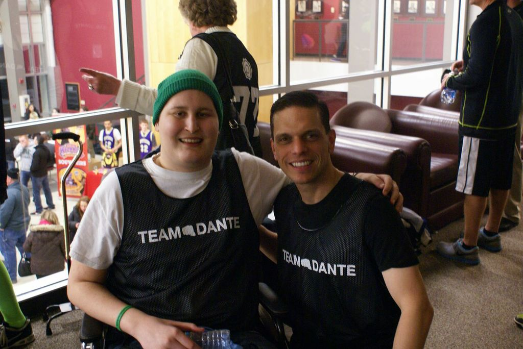 Assemblyman Angelo Santabarbara with Dante Gallucci at the Team Dante, Make-A-Wish Basketball Fundraiser