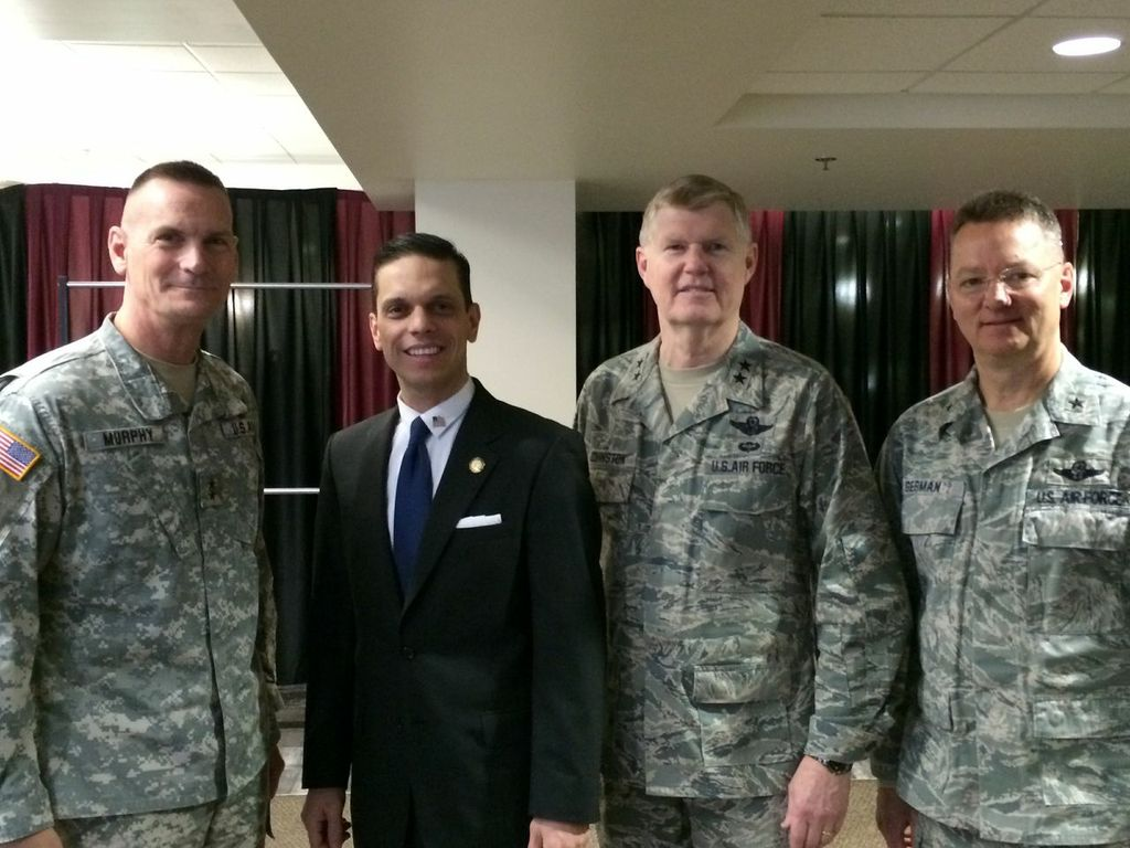 March 1st, 2014 - Assemblyman Santabarbara at the NYS Citizens Preparedness Program at Union College with the Army National Guard.