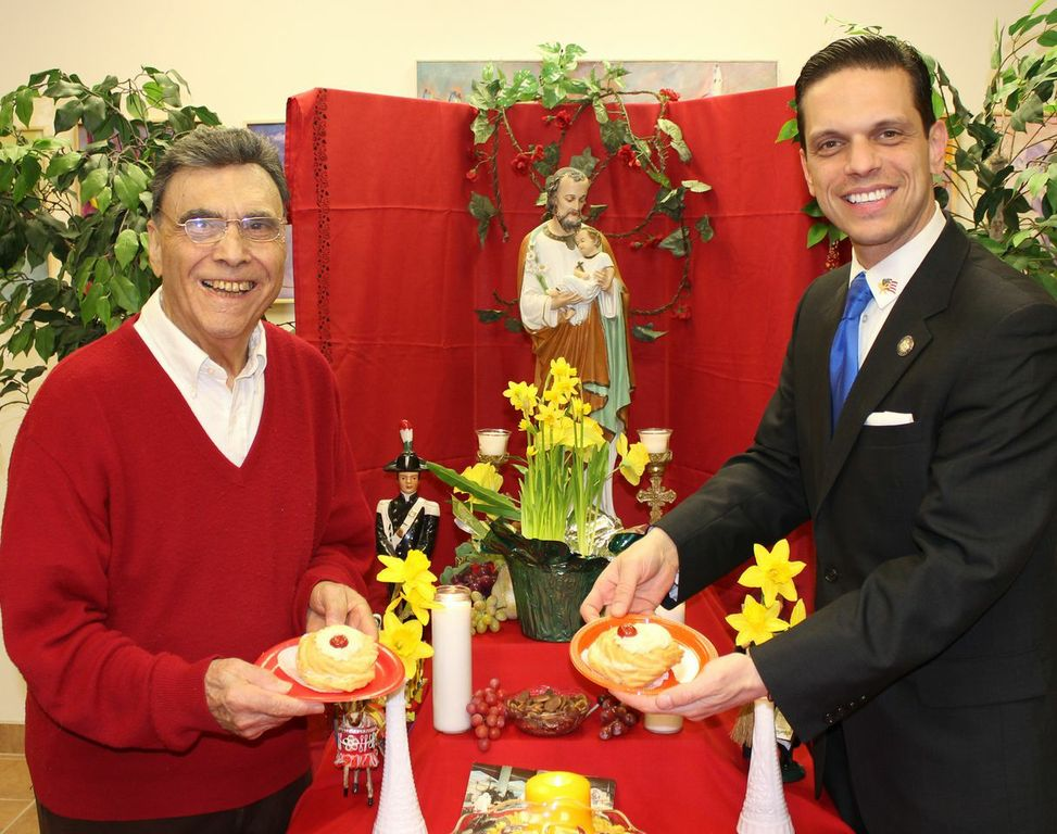 March 19th, 2014 - Assemblyman Santabarbara visits the American Italian Heritage Association and Museum for their Annual Saint Joseph's Day Celebration.