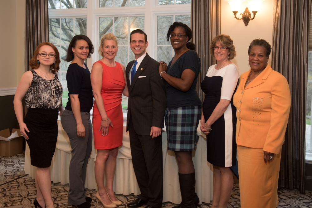 Assemblyman Angelo Santabarbara is joined by the honorees from the 2nd Annual Women of Distinction Awards