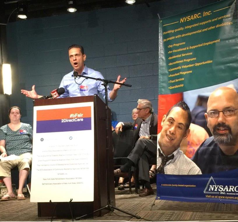 Assemblyman Santabarbara hosted a special LIVE STREAM public access show on OpenStageMedia.org on March 23rd, 2017. This special broadcast was dedicated to New York's direct care workers and the