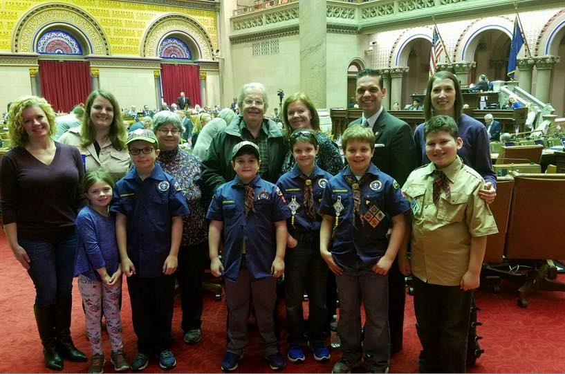Assemblyman Santabarbara was pleased to welcome Cub Scout Pack 10 from my hometown of Rotterdam as guests in the Assembly Chamber March 7th, 2017.
