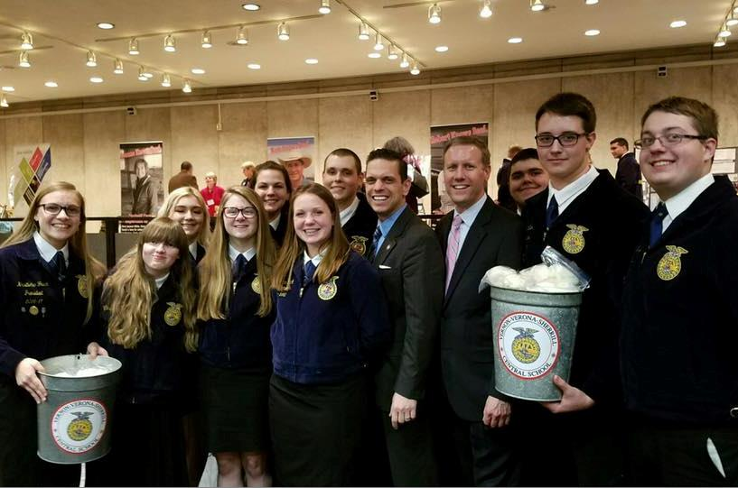 Joined by Future Farmers of America from Montgomery County at Taste NY, March 7th, 2017.