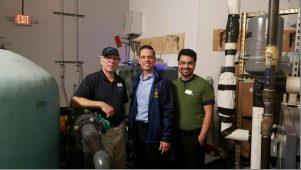 Assemblyman Angelo Santabarbara joins Via Aquarium Executive Director David Gross, Via Aquarium Marketing Director Alan Finitzi for an exclusive behind the scenes tour. 2/25/17