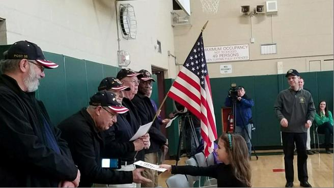 Our annual 'Valentines for Vets' program took place during a ceremony at Jefferson Elementary School this morning. Students prepared hundreds of Valentine's Day cards with 'Thank Y
