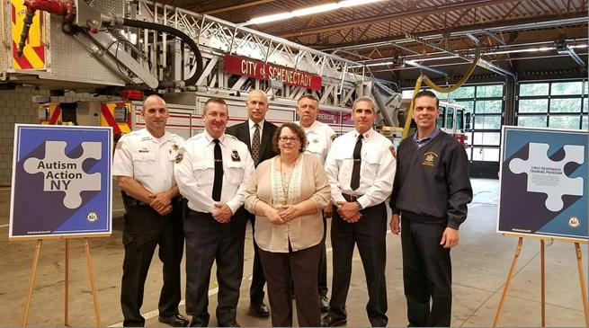 Pleased to join local law enforcement and first responders at the Schenectady Fire Department to unveil the details of new legislation in the State Assembly called 'Autism for First Responders&am