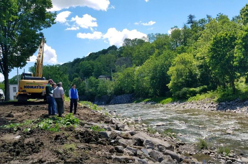 On June 2nd, 2017, Assemblyman Santabarbara toured the Village of Fort Plain with local officials and representatives from the DEC to talk about flood mitigation.