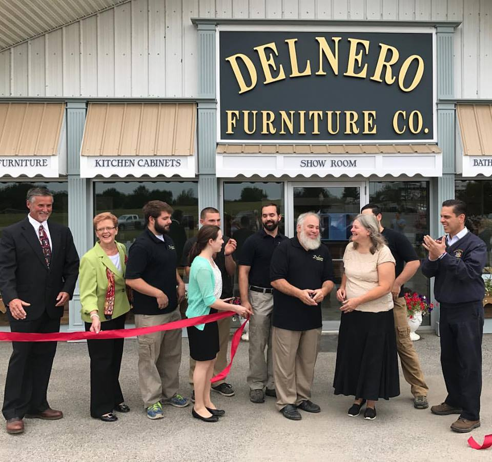 Assemblyman Santabarbara congratulates the Delnero family, on the grand opening of Delnero Furniture Company a 4th generation family, at their new location in the Village of Nelliston on August 29th,