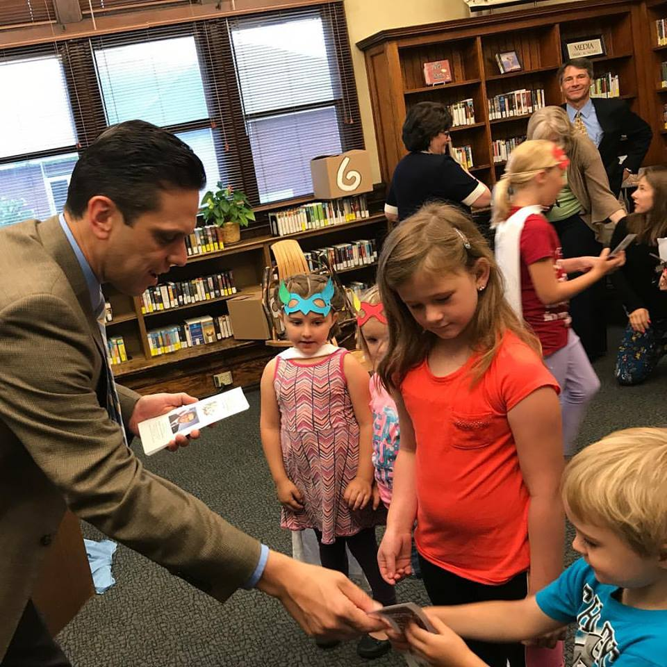 Assemblyman Santabarbara kicks-off his Summer Reading at the Amsterdam Free Library today, July 24th, 2017!