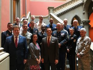 Assemblyman Santabarbara host the first Capital Region Military Day at the State Capitol, honoring the many local military installations.
